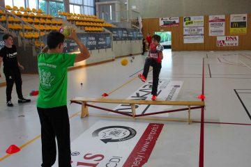 Exercice de dextérité entrainement de handball