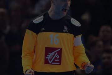 Le meilleure gardien de handball de tout les temps thierry omeyer en pleine célébration