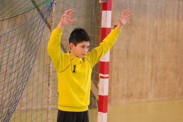 Stagiaire pendant un entrainement spécifique gardien de but handball