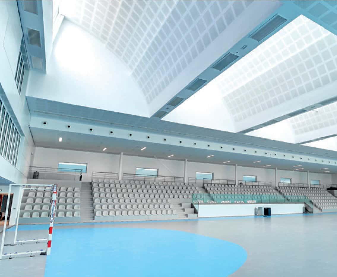 Photo du terrain d'entraînement de la Maison du Handball